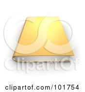 Royalty Free RF Clipart Illustration Of A Gold 3d Hardback Book
