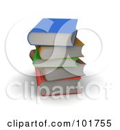 Stack Of Colorful 3d Hardback Books