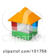 Royalty Free RF Clipart Illustration Of A 3d Colorful Block House by Jiri Moucka
