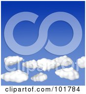 Royalty Free RF Clipart Illustration Of 3d Puffy White Clouds In A Gradient Blue Sky by Jiri Moucka