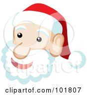 Royalty Free RF Clipart Illustration Of A Jolly Santa Face And Fluffy Beard