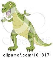 Green Tyrannosaurus Rex Shrugging