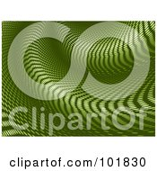 Royalty Free RF Clipart Illustration Of A Green Halftone Warp Tunnel Background
