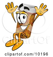 Pill Bottle Mascot Cartoon Character Jumping