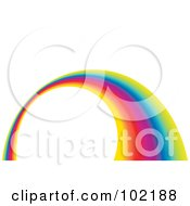 Royalty Free RF Clipart Illustration Of A Rainbow Swoosh Wave Background 4 by MilsiArt