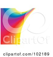 Royalty Free RF Clipart Illustration Of A Rainbow Swoosh Wave Background 5