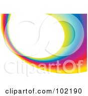 Royalty Free RF Clipart Illustration Of A Rainbow Swoosh Wave Background 6
