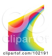 Royalty Free RF Clipart Illustration Of A Rainbow Swoosh Wave Background 7