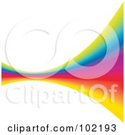 Royalty Free RF Clipart Illustration Of A Rainbow Swoosh Wave Background 9