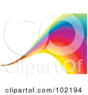 Rainbow Swoosh Wave Background 10