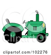 Royalty Free RF Clipart Illustration Of A Green Farm Tractor by Hit Toon