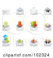 R Oyalty Free RF Clipart Illustration Of A Digital Collage Of Envelope Email Icons by Qiun