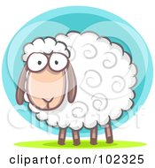 R Oyalty Free RF Clipart Illustration Of A Furry White Lamb by Qiun