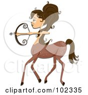 Royalty Free RF Clipart Illustration Of A Beautiful Sagittarius Zodiac Woman Centaur by BNP Design Studio