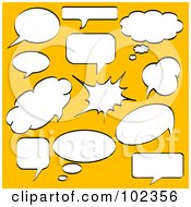 Royalty Free RF Clipart Illustration Of A Digital Collage Of Chat Thought And Word Balloons
