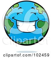 Royalty Free RF Clipart Illustration Of A Smiling Happy Earth by Cory Thoman