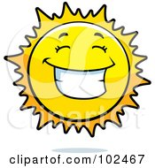 Royalty Free RF Clipart Illustration Of A Happy Grinning Sun
