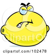 Royalty Free RF Clipart Illustration Of A Grouchy Lemon