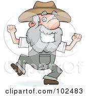 Happy Prospector Man Dancing