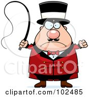 Royalty Free RF Clipart Illustration Of A Strict Chubby Circus Tamer Man by Cory Thoman