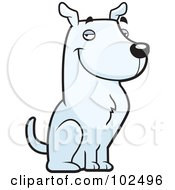 Royalty Free RF Clipart Illustration Of A Handsome White Show Dog