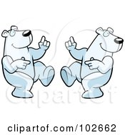 Royalty Free RF Clipart Illustration Of Two Dancing Polar Bears by Cory Thoman