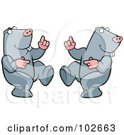 Royalty Free RF Clipart Illustration Of A Happy Dancing Mole Couple