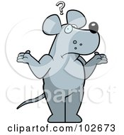 Royalty Free RF Clipart Illustration Of A Shrugging Confused Rat