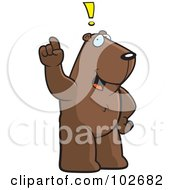 Royalty Free RF Clipart Illustration Of An Exclaiming Groundhog