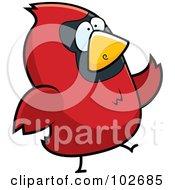 Red Bird Walking