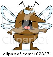 Royalty Free RF Clipart Illustration Of A Mad Mosquito by Cory Thoman