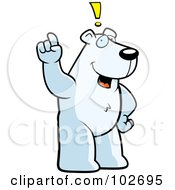 Royalty Free RF Clipart Illustration Of An Exclaiming Polar Bear by Cory Thoman