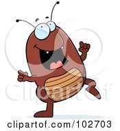 Royalty Free RF Clipart Illustration Of A Happy Dancing Flea