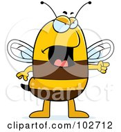 Royalty Free RF Clipart Illustration Of An Angry Bee Pointing