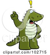 Royalty Free RF Clipart Illustration Of An Exclaiming Alligator by Cory Thoman