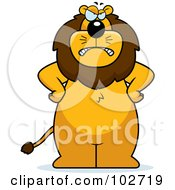 Royalty Free RF Clipart Illustration Of A Mad Lion Standing With His Hands On His Hips