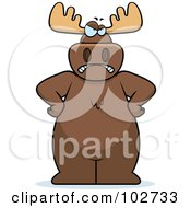 Royalty Free RF Clipart Illustration Of A Stern And Angry Moose by Cory Thoman