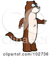 Royalty Free RF Clipart Illustration Of A Mad Pointing Weasel