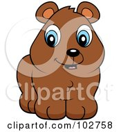 Royalty Free RF Clipart Illustration Of A Cute Brown Bear Cub Smiling