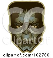 Royalty Free RF Clipart Illustration Of A Frankenstein Face