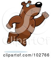 Royalty Free RF Clipart Illustration Of A Bear Taking A Leap