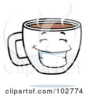 Royalty Free RF Clipart Illustration Of A Happy Grinning Coffee Cup by Cory Thoman