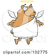 Royalty Free RF Clipart Illustration Of An Angel Hamster by Cory Thoman