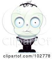 Royalty Free RF Clipart Illustration Of A Little Zombie Man by Cory Thoman
