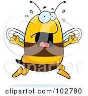 Royalty Free RF Clipart Illustration Of A Panicking Bee by Cory Thoman