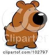 Royalty Free RF Clipart Illustration Of A Cute Smiling Bear