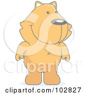 Royalty Free RF Clipart Illustration Of A Faded Cat Standing