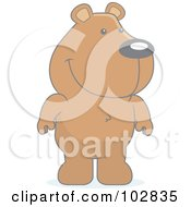 Royalty Free RF Clipart Illustration Of A Cute Standing Bear