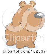 Royalty Free RF Clipart Illustration Of A Faded Smiling Bear