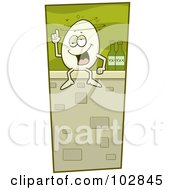 Royalty Free RF Clipart Illustration Of A Humpty Dumpty Sitting Drunk On A Wall by Cory Thoman